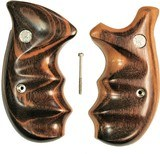 Smith & Wesson N Frame Smooth Goncalo Alves Wood Combat Grips, Round Butt