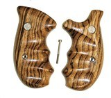 Smith & Wesson N Frame Smooth Zebra Wood Combat Grips