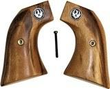 Ruger Wrangler .22 Revolver Goncalo Alves Wood Grips, Medallions - 1 of 3