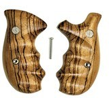 Smith & Wesson K & L Frame Smooth Zebra Wood Combat Grips - 1 of 5