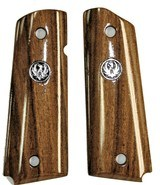 Ruger SR1911 Claro Walnut Grips, Smooth With Medallions - 1 of 1