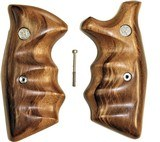 Smith & Wesson K & L Frame Goncalo Alves Wood Combat Grips, Square Butt - 1 of 5