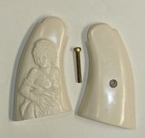 Smith & Wesson K & L Frame Ivory-Like Grips, Relief Carved Nude