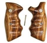 Smith & Wesson K & L Frame Goncalo Alves Wood Combat Grips, Square Butt