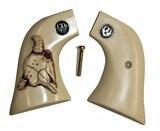Ruger Wrangler .22 Revolver Ivory-Like Grips, Bison Skull & Medallions