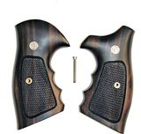 Smith & Wesson K & L Frame Combat Tigerwood Grips, Checkered