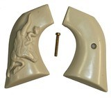 Ruger Vaquero XR3-Red Ivory-Like Grips, Relief Carved Steer & Snake