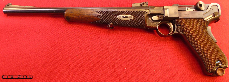 1902 DWM Luger Carbine In 30 Luger Calibre