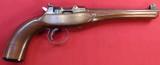 Varsity Mfg.Co.A.H.Tompkins Precision Single Shot Target Pistol.