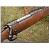 """Winchester, """"North American Game Series"""", complete set of 3 Model 70 custom rifles - 8 of 12"""