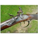 B. & J. Cooper, New York.Extremely rare American, silver mounted, 23-bore double barreled flintlock sporting gun, ca.1810 - 2 of 15