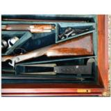 Woodward and Foster, Doncaster, England. Incredibly rare 4-gun casing consisting of two sporting guns and two sporting rifles- 8 of 14