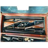 Woodward and Foster, Doncaster, England. Incredibly rare 4-gun casing consisting of two sporting guns and two sporting rifles- 4 of 14