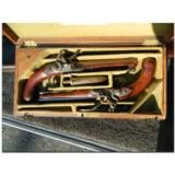 Charles Grierson, London. Exceptionally fine cased pair of British Officer's Pistols, ca.1805- 1 of 22