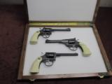 IVER JOHNSON 1871-1971 - 100 YEAR COMMEMORATIVE - .22 REVOLVER SET