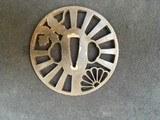 OLD TSUBA Iron for KATANA motif leaf and shell - 1 of 2