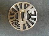 OLD TSUBA Iron for KATANA motif leaf and shell - 2 of 2