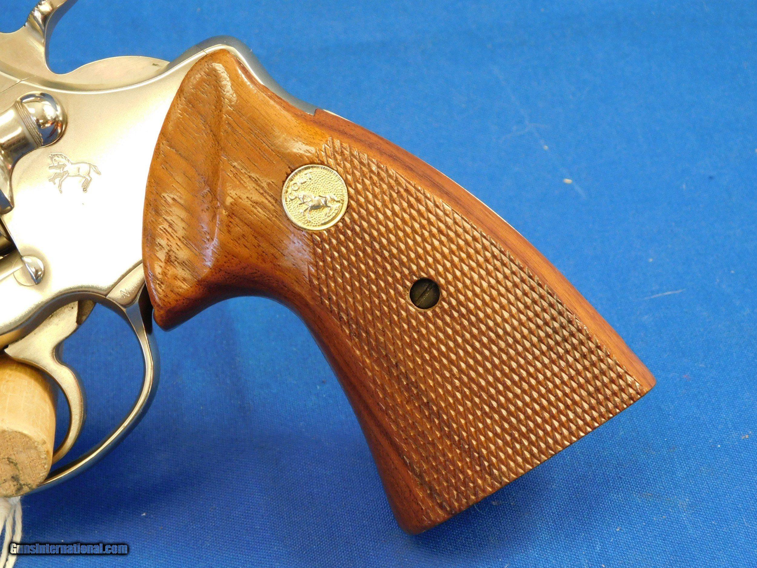 Factory E-Nickel Colt Trooper MK III 22LR original box and