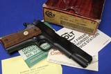 100% NIB Colt 70 Series Government 45 ACP 1981 Small Roll Mark Spot Less