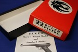 1972 Ruger 22 Pistol 6 Inch Barrel Box with manual Excellent Condition