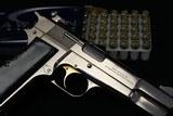 1981 Factory Nickel Browning Hi Power 9mm Belgium made Factory Adjustable Sights