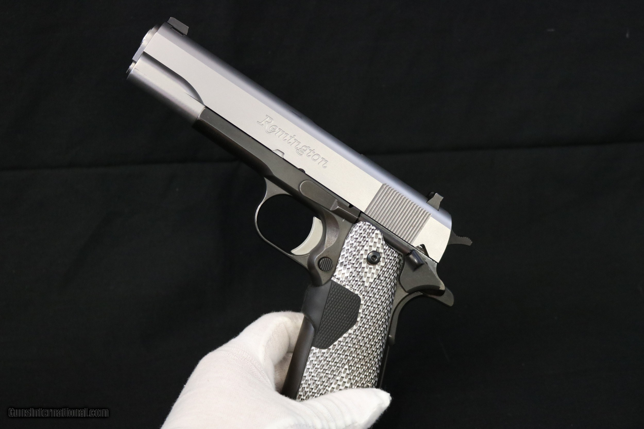Remington 1911 R1S 45 ACP Two Tone with Crimson Trace Red Laser Grip