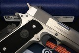 (Sale Pending 4/27/210) 2008 made Colt 80 Series Government 1911 Factory Brushed Stainless in original box 2 mags