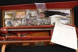 Rare 3 Digit SN 1885 made Colt 1883 Hammerless Factory 2 Barrel Set with Case, Letter, Period Correct Items.