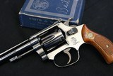 1971 Smith & Wesson 34-1 22LRRound Butt 4 inch Matching Boxed with Extra Grips - 1 of 24