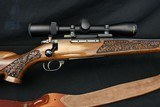 Weatherby MK V Lasermark 300 WBY Mag Deluxe wood Factory Carved Nikon Scope Leupold Base & Rings Weatherby Sling - 5 of 23