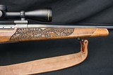 Weatherby MK V Lasermark 300 WBY Mag Deluxe wood Factory Carved Nikon Scope Leupold Base & Rings Weatherby Sling - 6 of 23