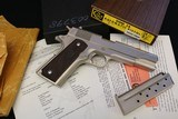 "Scarce Pre-70 Series Colt 1911-A1 38 Super Factory Nickel Orig Box ""CS"" Prefix Transitional Model Factory Fired - 1 of 23"