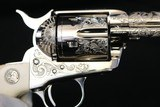 """(Sale Pending 9/18/2019) 1989 Factory Fired Colt SAA Single Action Army Engraving Sampler 45LC 4.75"""" Factory Nickel w/ Ivory NIC - 5 of 21"""