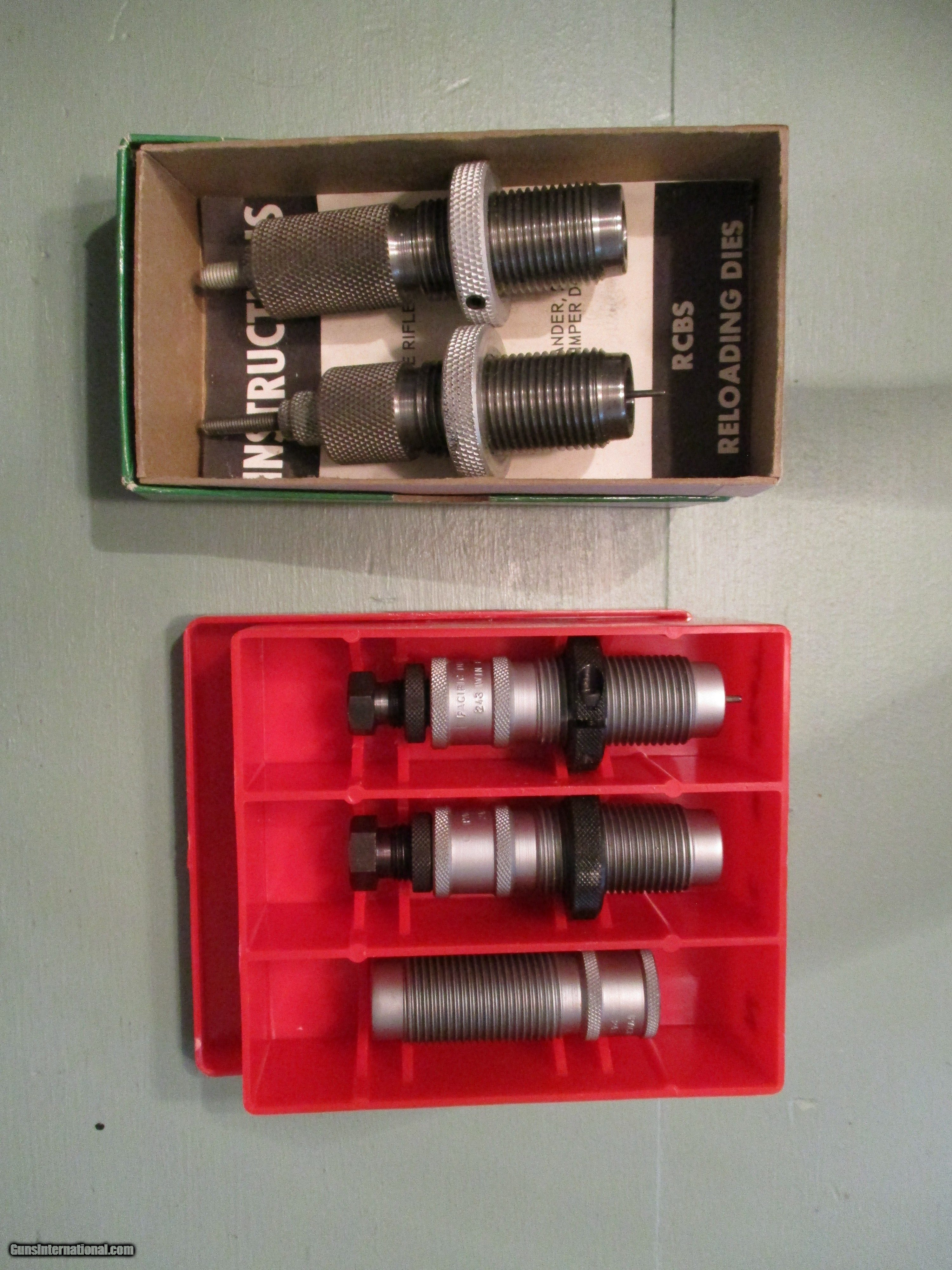 243 RELOADING DIES (TWO SETS)