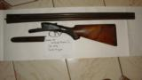H.,Grade Lefever Arms Co. Double Trigger SxS 12 Gauge Patented 1872 S/N28818 - 1 of 11