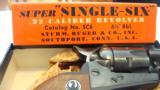 STURM, RUGER-SUPER SINGLE SIX .22 CAL. REVOLVER-IN ORIGINAL PACKAGING - 1 of 11