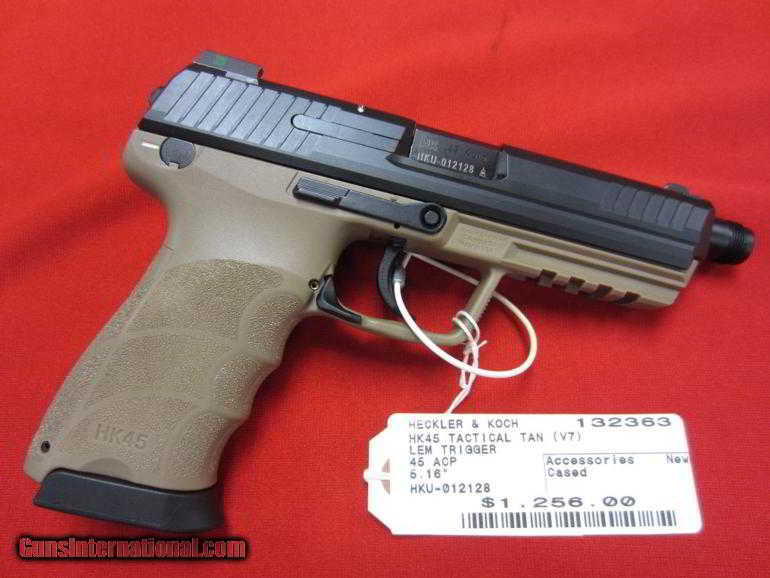 Heckler & Koch HK45 Tactical Tan (V7) 45acp 5 16