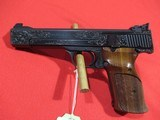 "Smith & Wesson Model 41 Target 22LR 5.5"" Custom Engraved - 2 of 8"