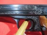 "Smith & Wesson Model 41 Target 22LR 5.5"" Custom Engraved - 5 of 8"