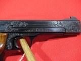 "Smith & Wesson Model 41 Target 22LR 5.5"" Custom Engraved - 4 of 8"