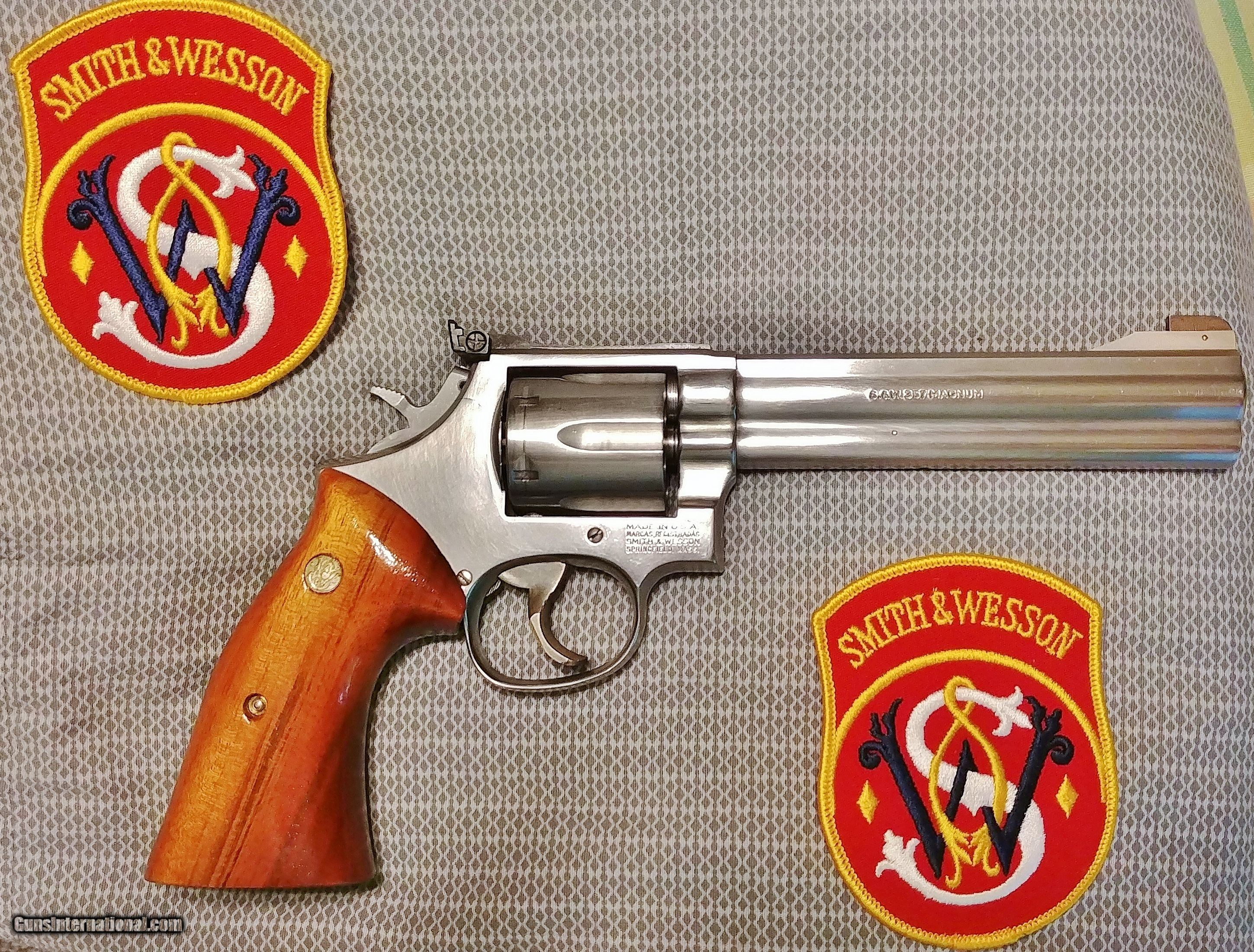 Smith Wesson Stainless Model 686 6 No Dash 357 Magnum W Case