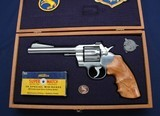 "Very nice custom cased Colt Officer's Model 6"" Nickel"