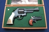 S&W 25-7 .45LC & Davis 22mag paired in Pres case - 1 of 8