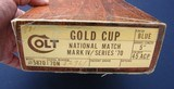 Colt Series 70 large letter Gold Cup in the original box - 7 of 7