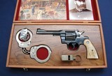 Custom cased Colt Army Special in early Police motif