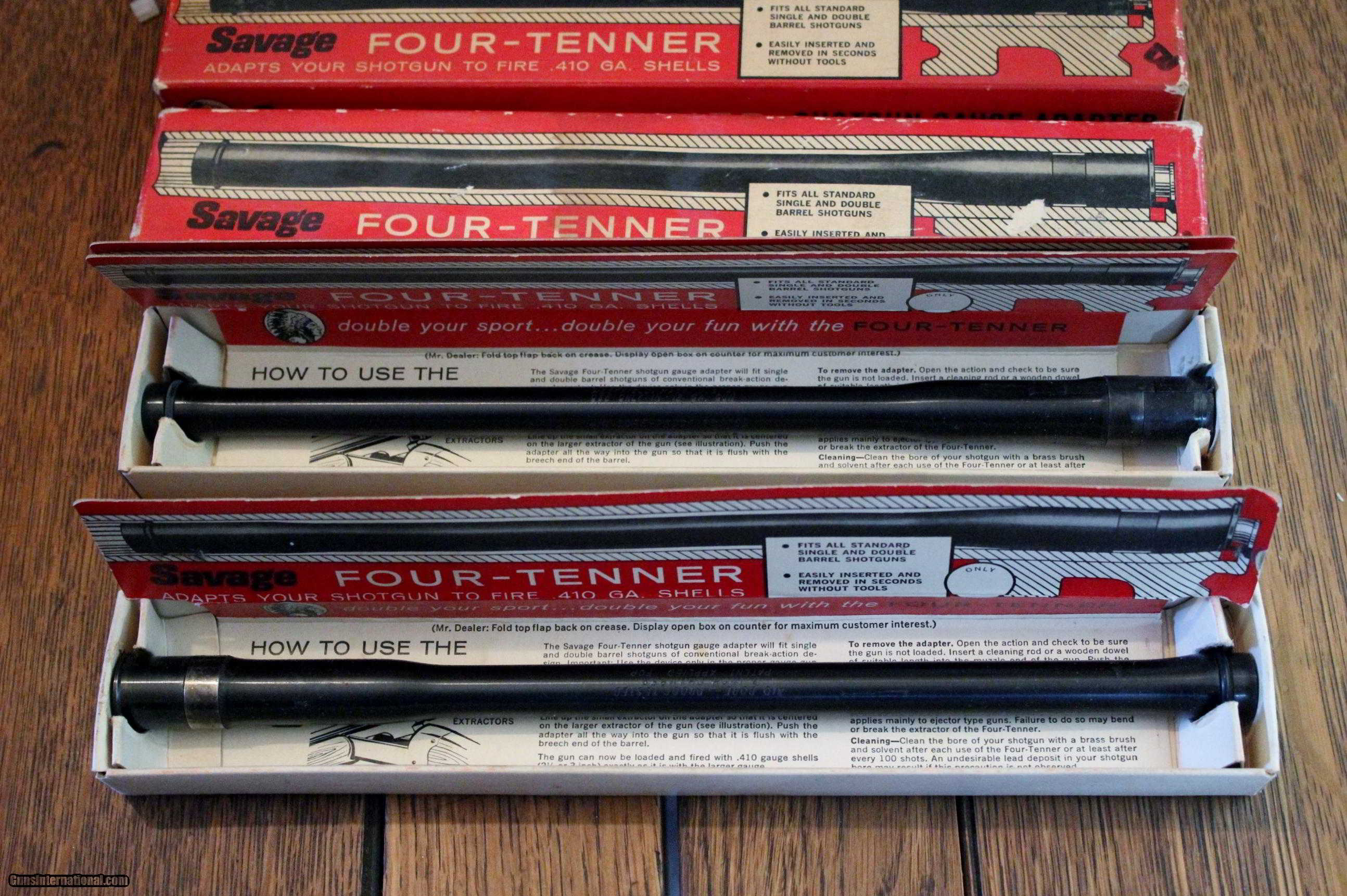 Savage Four Tenners 12ga to  410 adapters for sale