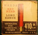 Wards Red Head 410 box with a few shells