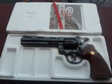 COLT .357 blue w/6 inch barrel, New In Box