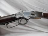 Winchester Model 1873 38 WCF 24 inch round barrel Full Mag, Crescent Butt