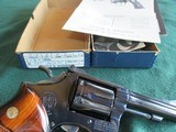 smith & wesson model 15 blue 4 inch with box